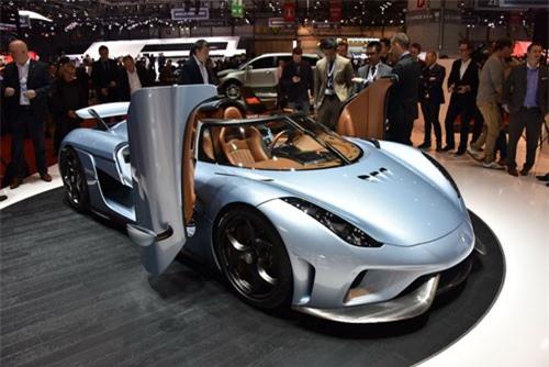 3. Koenigsegg Regera Concept 2015 (công suất tối đa: 1.790 mã lực).