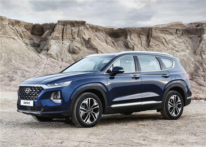 Hyundai Santa Fe 2019 có mức giá bán lẻ dao động từ 1,1 đến 1,2 tỷ đồng? - Ảnh minh hoạ.