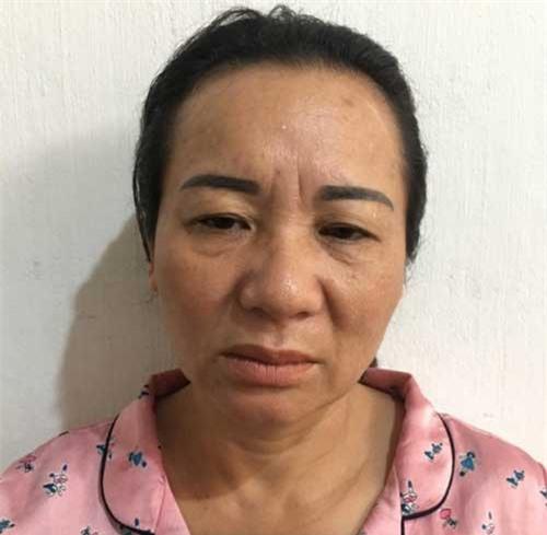 Nguyễn Thị Nga tại cơ quan điều tra.