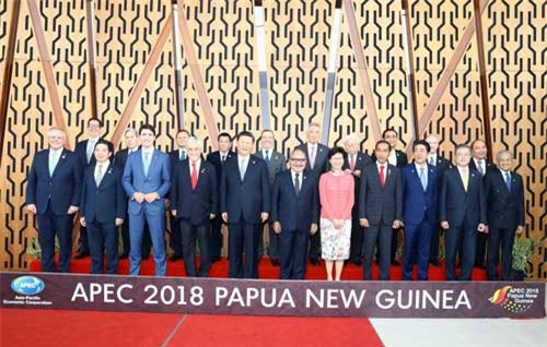 Lễ đón các nhà lãnh đạo APEC. Ảnh: TTXVN/Thống Nhất