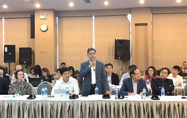 Ông Võ Quang Lâm, Phó Tổng giám đốc EVN phát biểu tại Hội thảo do VCCI tổ chức sáng 20/11. (Ảnh: EVN)