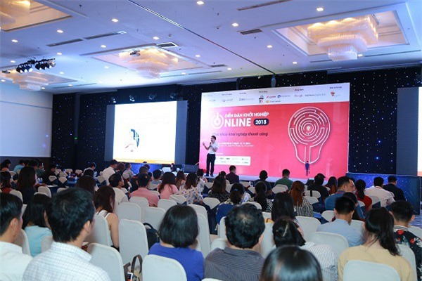 Diễn đàn khởi nghiệp online 2018 thu hút hơn 1000 chủ doanh nghiệp, người kinh doanh tham dự (Ảnh: ĐL)