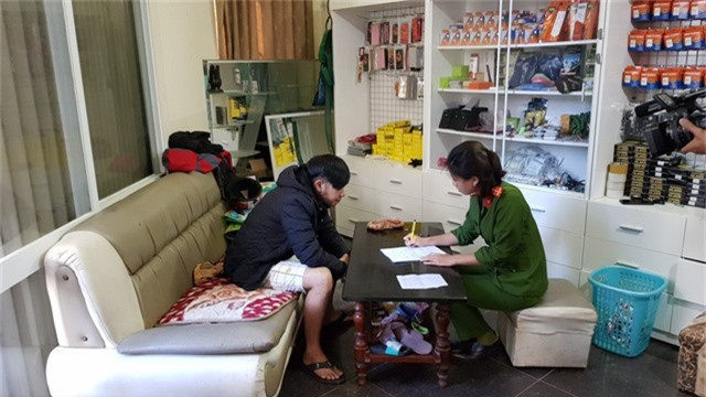 Đối tượng Nguyễn Chí Thanh làm việc với cơ quan công an