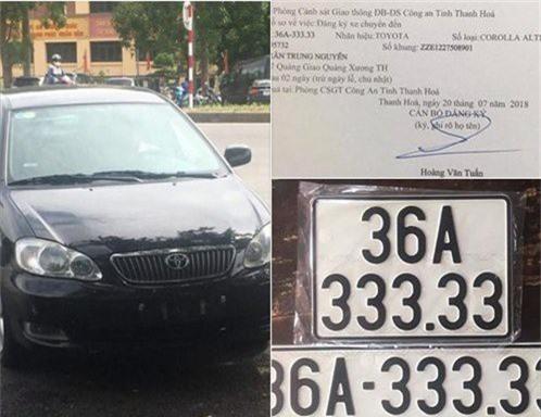 Trước đó, vào tháng 7, tại Thanh Hóa, một người mua lại chiếc Toyota Corolla Altis đời cũ đã may mắn bốc được biển số ngũ quý 3 siêu khủng khi sang tên, chuyển vùng chiếc xe này