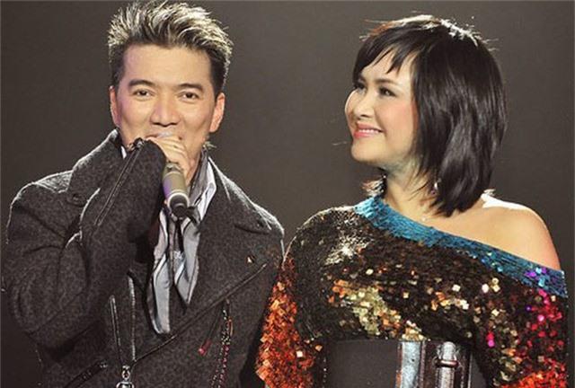 Ca sĩ Thanh Lam và Đàm Vĩnh Hưng khi còn thân thiết