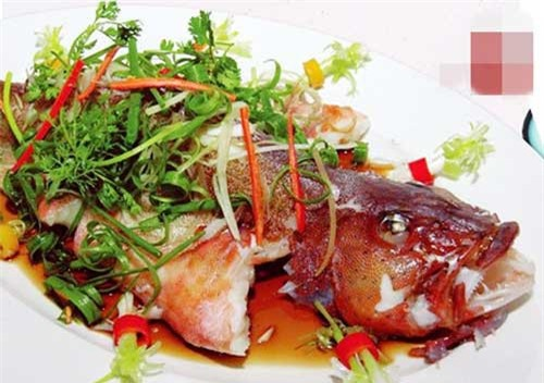 Cá mú đỏ thích hợp để chế biến các món sốt và gỏi. Ngoài ra, cũng có thể chế biến loài cá này thành món hấp xì dầu, nấu canh chua...Ảnh: Haisanmoingay.
