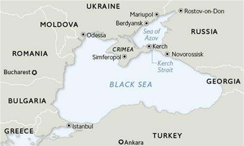 Vị trí biển Đen và Biển Azov. Đồ họa: Madhouse News.