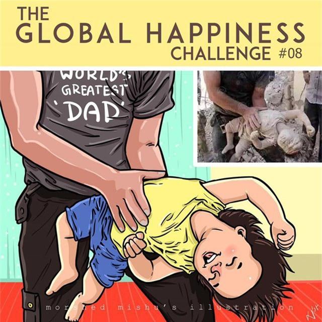 Hình ảnh những em bé tử vong trên tay của cha mẹ sẽ không còn nữa nếu chiến tranh kết thúc, thay vào đó sẽ chỉ là những khoảnh khắc vui đùa giữa cha và con
