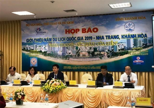 Họp báo giới thiệu về Năm Du lịch quốc gia 2019 - Nha Trang, Khánh Hòa.