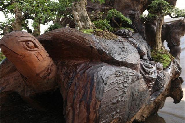 """Theo anh Thịnh, ngoài việc tạo hình """"long lân quy phượng"""" hình dáng của gốc cây Sao cổ thụ về cơ bản được giữ nguyên."""