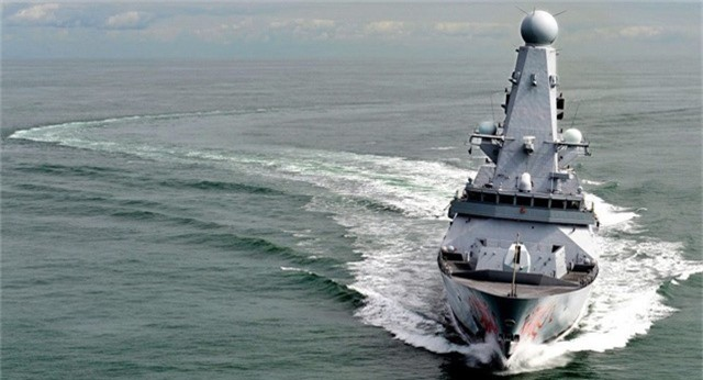 Tàu khu trục Type 45 của Anh (Ảnh: Royal Navy)