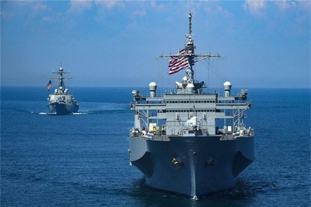 Tàu khu trục mang tên lửa dẫn đường USS Porter của Mỹ (Ảnh: US Navy)
