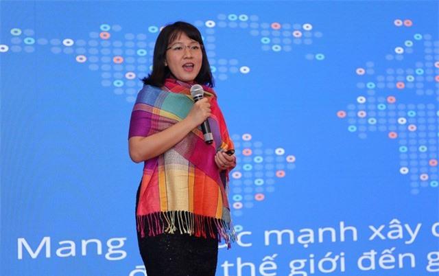 Bà Lê Diệp Kiều Trang, Tổng Giám đốc, Facebook Việt Nam. (Ảnh: VTV)