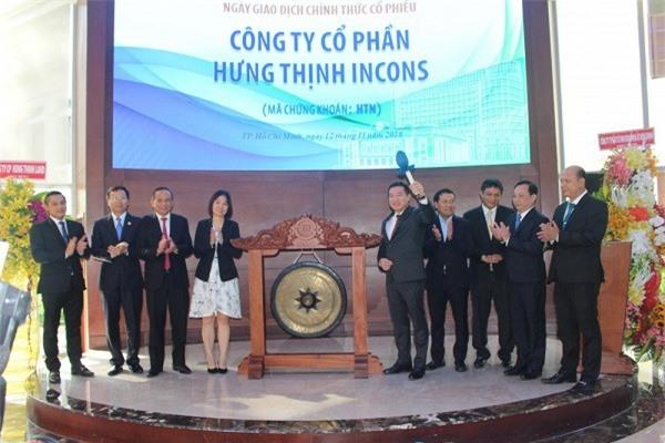 Công ty Cổ phần Hưng Thịnh Incons giao dịch phiên đầu trên Sở giao dịch chứng khoán TP.HCM (Ảnh: VĐ)