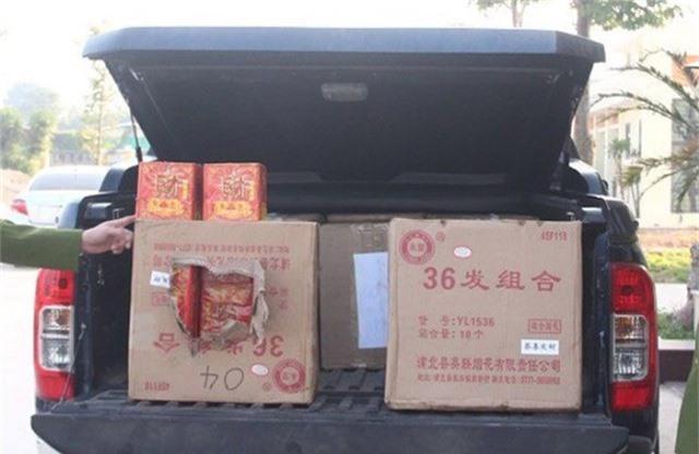250 kg pháo nổ bị Công an huyện Hiệp Hòa Bắt giữ