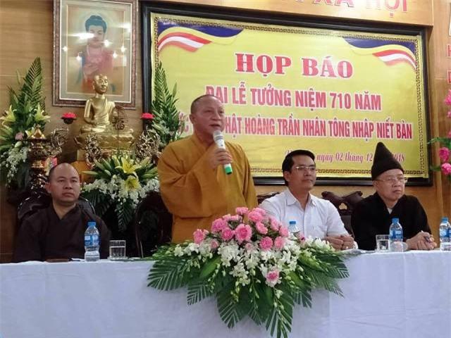Họp báo công bố các sự kiện nhân Đại lễ tưởng niệm 710 năm Phật hoàng Trần Nhân Tông nhập Niết bàn