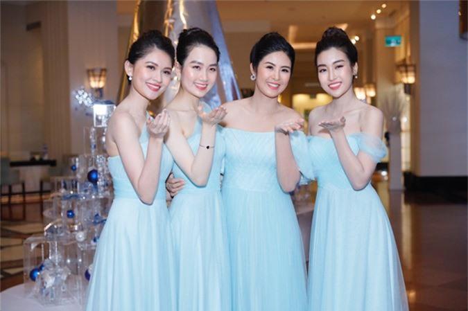 Dàn Hoa hậu, Á hậu làm phù dâu trong hôn lễ của và chồng đại gia - 5