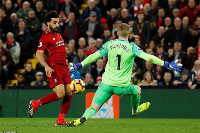 Các chân sút của Liverpool dứt điểm khá kém, bên cạnh đó Pickford cũng ra vào rất chắc chắn