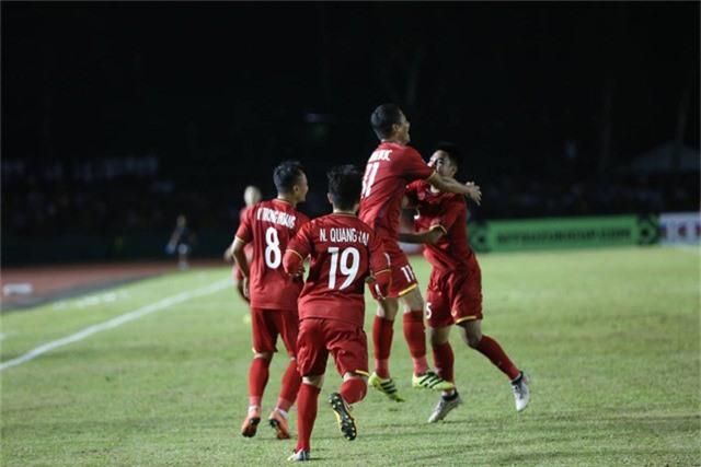 Chiến thắng dành cho đoàn quân của HLV Park Hang Seo là hoàn toàn xứng đáng (ảnh: Huyền Trang)