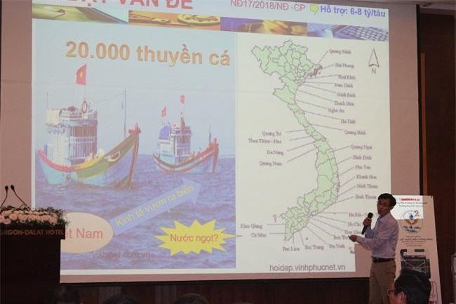 """Dự án khởi nghiệp """"Máy lọc nước biển thông minh cho ngư dân đi biển"""" của Trường Đại học Đà Lạt (Ảnh: VH)"""
