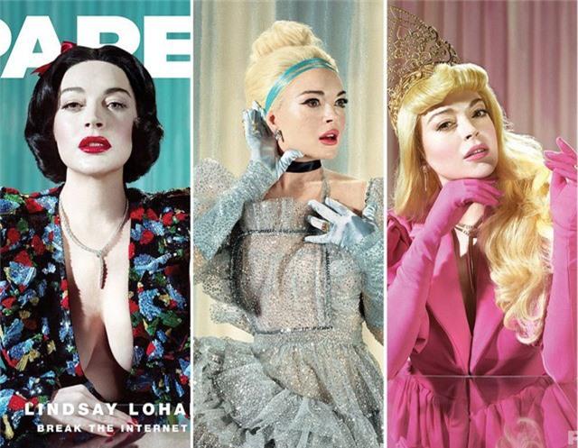 """Nữ diễn viên Lindsay Lohan (32 tuổi) đã nhận lời thực hiện bộ ảnh và bài phỏng vấn chuyên sâu cho tờ tạp chí Paper với chủ đề """"Break the Internet"""" (Phá đảo thế giới ảo)."""