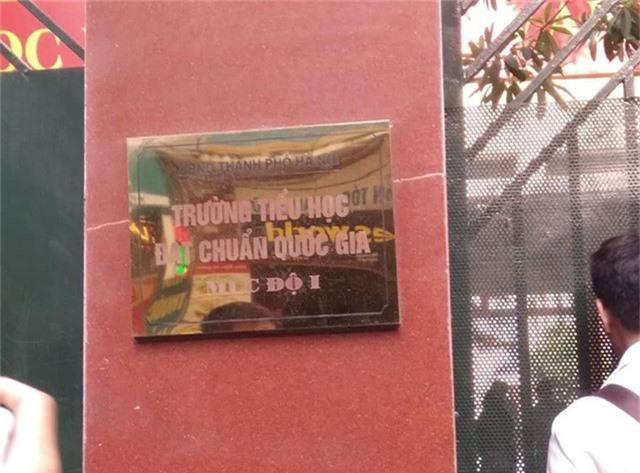 Tiểu học Quang Trung là trường chuẩn quốc gia cấp độ I