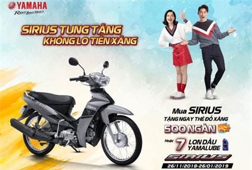 Chương trình khuyến mãi cho khách hàng mua xe Yamaha Sirius.