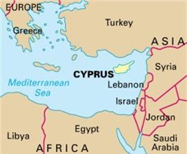 Bản đồ vị trí đảo Síp (Ảnh: Google Maps)