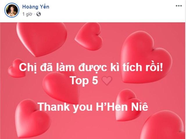 Ca sĩ Hoàng Yến Chibi vui mừng trước kỳ tích của đại diện Việt Nam.