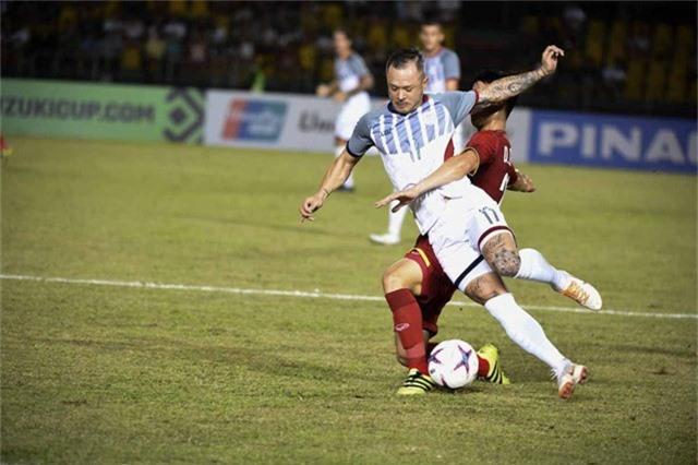 Stephan Schrock là cầu thủ hay nhất của Philippines ở trận bán kết lượt đi với đội tuyển Việt Nam