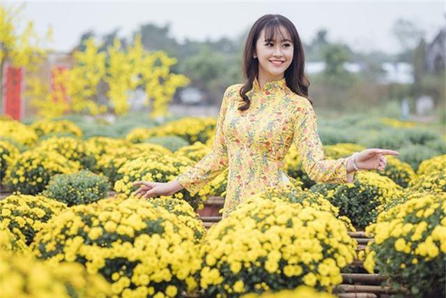 Tân hoa khôi Imiss Thăng Long khoe sắc trong bộ ảnh đón Xuân sớm - Ảnh 1.