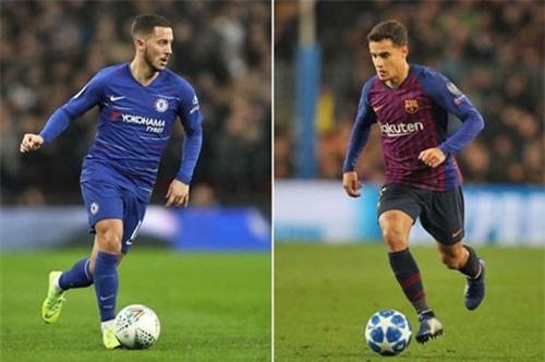 Hazard và Coutinho.