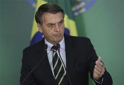 Tân Tổng thống Brazil Jair Bolsonaro. (Ảnh: AP)