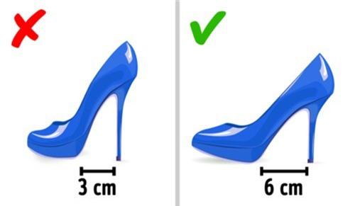 Chọn giày cao gót để không bị đau chân