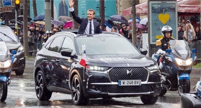 Xe DS 7 Crossback của Tổng thống Pháp Emmanuel Macron