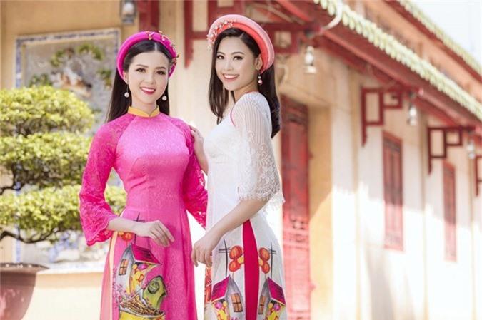 Hoa khôi Cần Thơ Thúy Vi và Người đẹp biển Hoa hậu Việt Nam 2016 Đào Thị Hà vừa thực hiện bộ ảnh đón xuân.