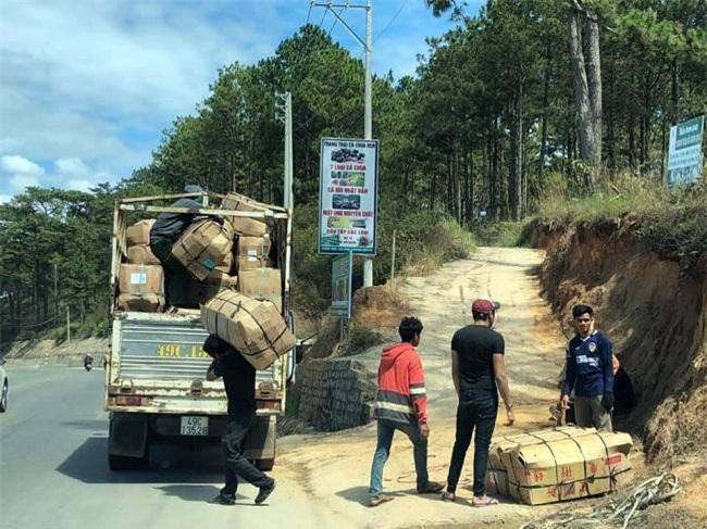 Nhận được tin vui, những chuyến xe chở hoa Đà Lạt chuẩn bị lăn bánh về TP.HCM (Ảnh: TL)
