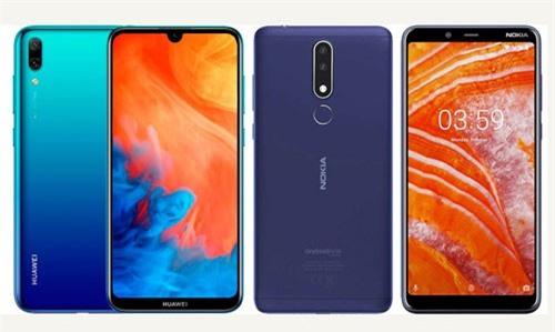Huawei Y7 Pro 2019 và Nokia 3.1 Plus (phải).