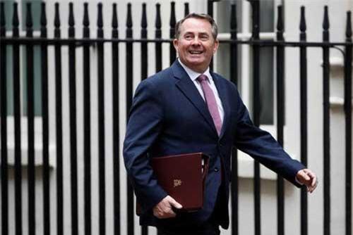 Bộ trưởng Bộ Thương mại Anh Liam Fox. Ảnh: Reuters.