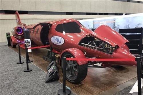 limosine lai phản lực, Limo-Jet, siêu xe, xe độc đáo, xe lai phản lực
