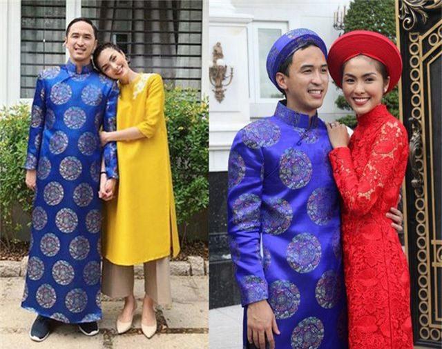 Vợ chồng Hà Tăng diện áo dài cực đẹp đôi, Mỹ Tâm giản dị với... dép tổ ong - 2