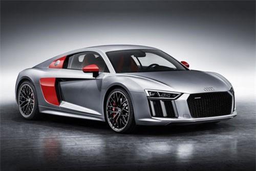 9. Audi R8 V10 Plus 2019 (vận tốc tối đa: 330 km/h).