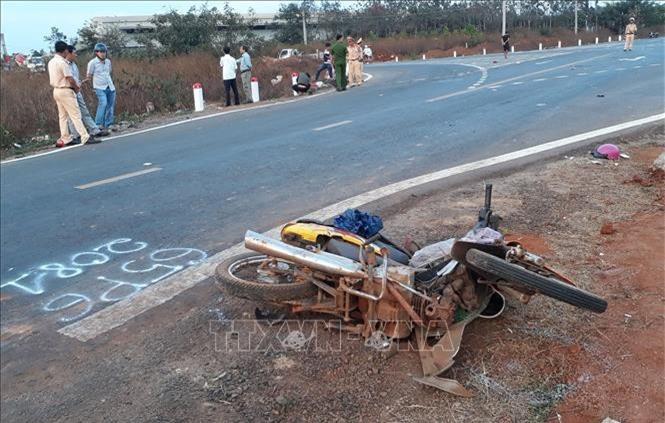 Hiện trường vụ tai nạn (Ảnh: TL)