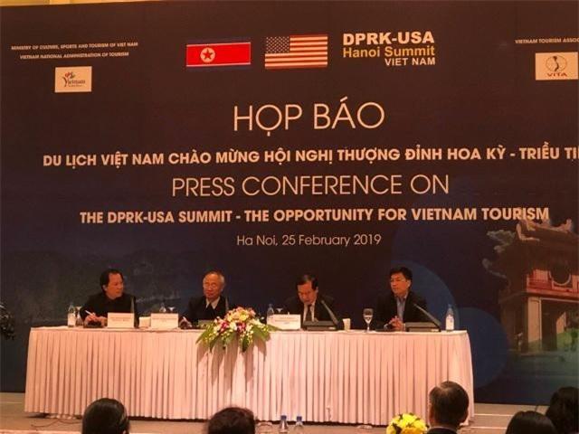 họp báo quốc tế thông tin về cơ hội của du lịch Việt Nam nhân dịp Hội nghị thượng đỉnh Hoa Kỳ - Triều Tiên lần thứ 2