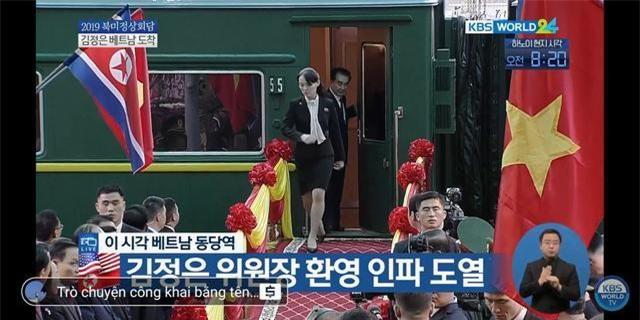 Em gái Chủ tịc Triều Tiên bước ra từ tàu bọc thép