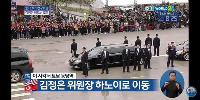 Xe ô tô đã chờ sẵn đón Chủ tịch Triều Tiên rời Đồng Đăng về Hà Nội