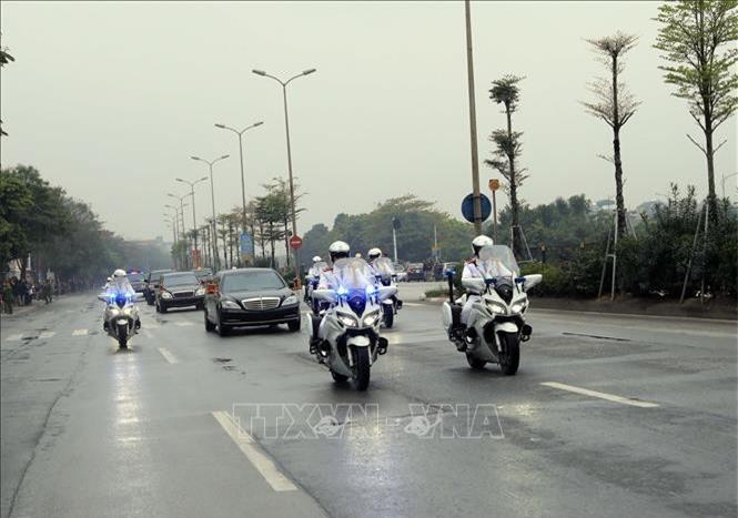 Và tiến vế trung tâm Thủ đô Hà Nội (Ảnh (TTX)
