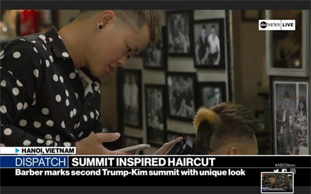 Chàng trai cắt tóc tạo hình Tổng thống Trump lên truyền hình ABC của Mỹ - 1