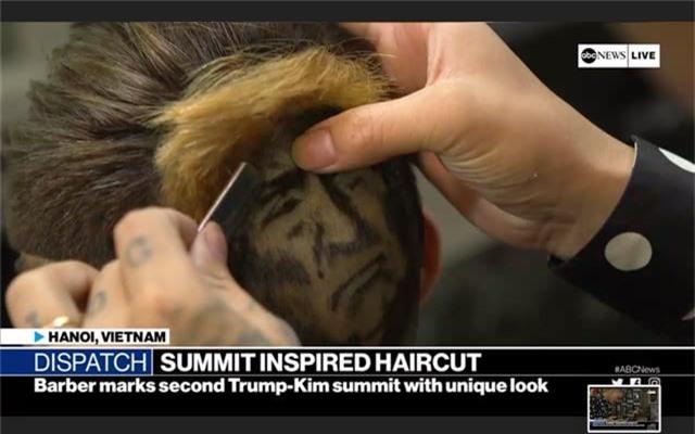 Chàng trai cắt tóc tạo hình Tổng thống Trump lên truyền hình ABC của Mỹ - 2