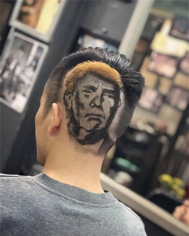 Chàng trai cắt tóc tạo hình Tổng thống Trump lên truyền hình ABC của Mỹ - 4